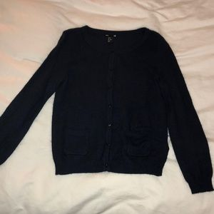 H&M Navy Button Down Sweater - Size Medium